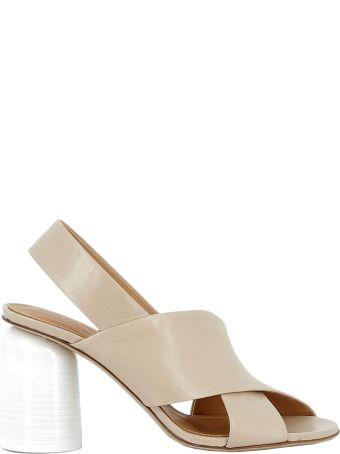 Halmanera Beige Leather Sandals