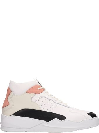 Filling Pieces White-pink Leather Lay Up Ices Sneakers