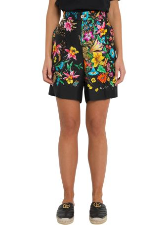 Gucci Floral Pattern Shorts In Silk