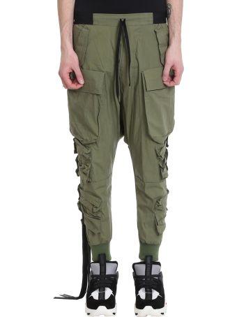 Ben Taverniti Unravel Project Cargo Green Cotton Pants