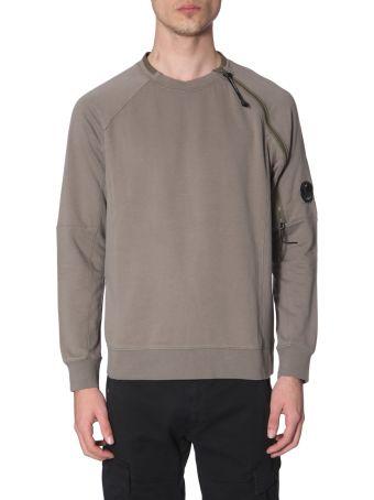 C.P. Company Crew Neck Sweatshirt With Zip