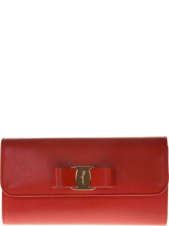 Salvatore Ferragamo Red Leather Bag