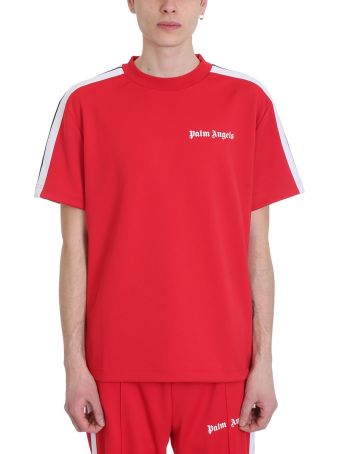 Palm Angels Track Red Polyester T-shirt