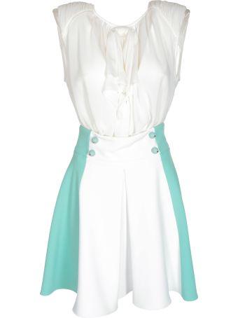 Elisabetta Franchi Celyn B. Button Detail Dress