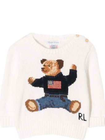 Ralph Lauren White Baby Sweater