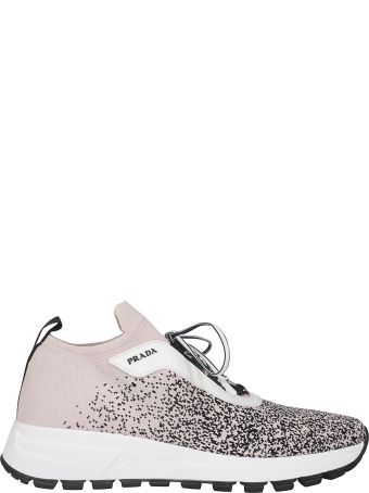 Prada Knit Laced-up Sneakers