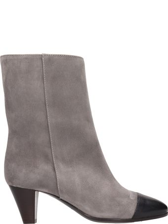 Via Roma 15 Grey Suede Ankle Boots