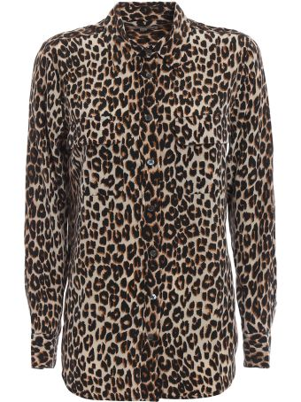 Equipment Leopard Print Shirt