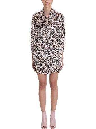 L'Autre Chose Leopard Silk Jacket