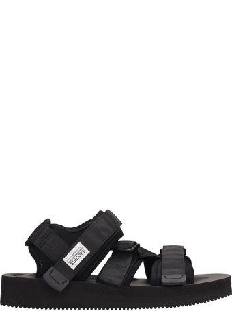 f87fd8d8cccb SUICOKE Black Nylon Kisee-v Sandals
