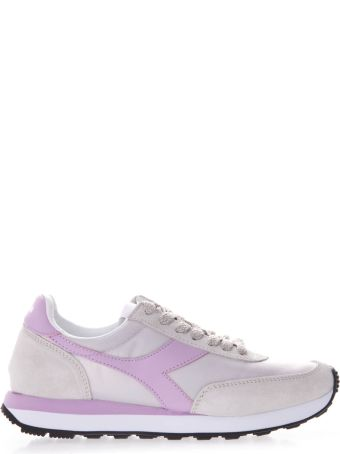 Diadora Ivory And Liliac Koala H Sneakers In Suede And Nylon