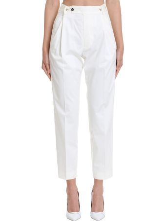 Mauro Grifoni Pants In White Cotton