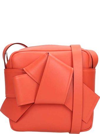Acne Studios Orange Leather Musubi Camera Bag