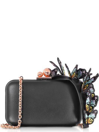 Sophia Webster Black & Rainbow Vivi Butterfly Box Bag