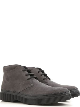Tod's 39a Nubuck Lace-up Ankle Boots