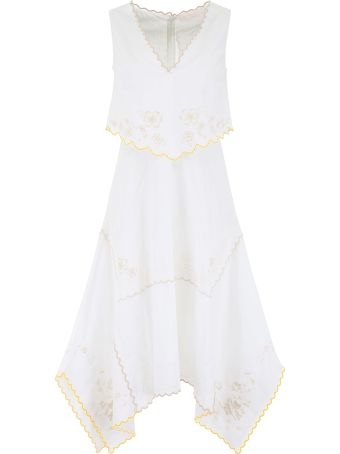 See by Chloé Floral-embroidered Dress