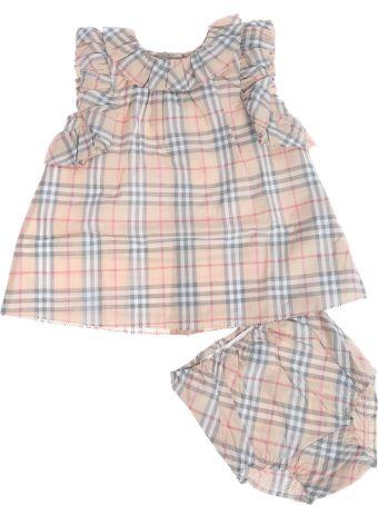 Burberry Kids House Checked Print Shorts Set