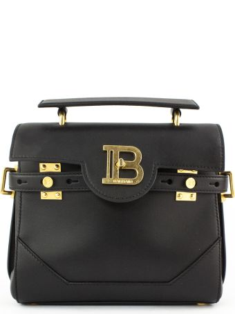 Balmain Black Calfskin B-buzz 23 Bag