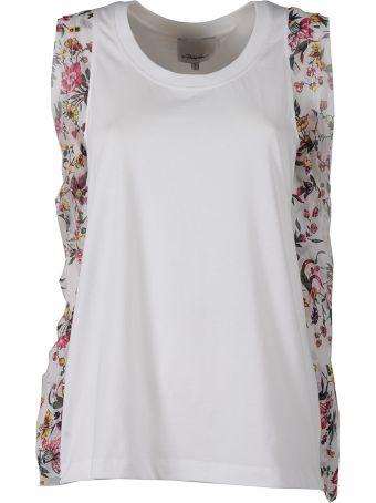 ca9827142afd0 3.1 Phillip Lim Floral Silk-ruffle Cotton-jersey Tank Top