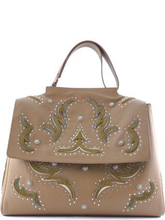 Orciani Brown Leather Sveva Large Bag