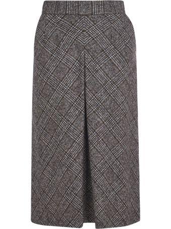 Dolce & Gabbana Flared Check Skirt