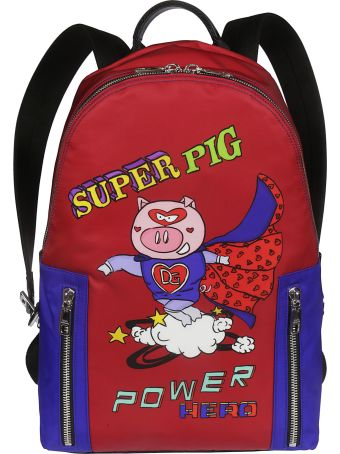 Dolce & Gabbana Super Pig Print Backpack
