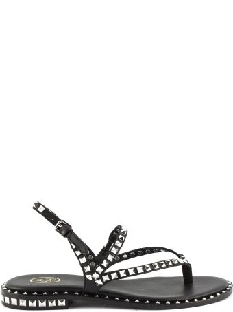 Ash Peps Sandals In Black Leather