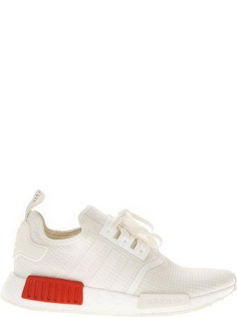 Adidas Originals Nmd R1 White Nylon Sneakers