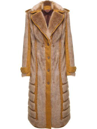 Acne Studios Faux Fur-trimmed Jute-blend Coat