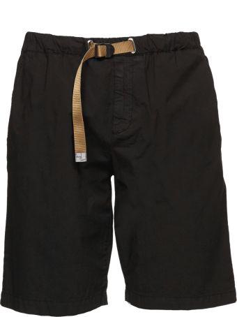 White Sand Buckle Closure Shorts