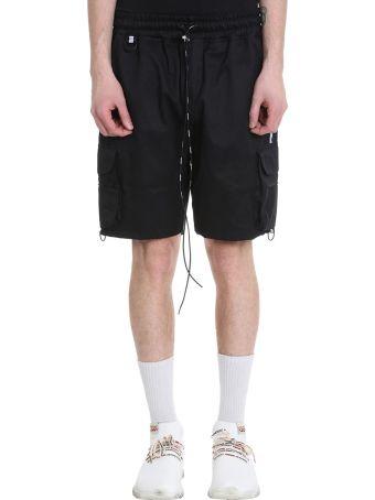 REPRESENT Military Black Cotton Shorts