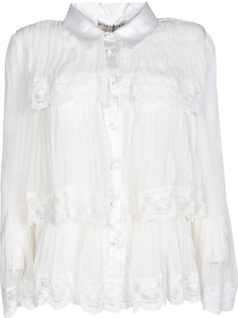 Alice + Olivia Alice+olivia Tiered Lace Trim Shirt