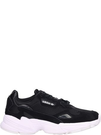Adidas Falcon W Black Fabric Sneakers