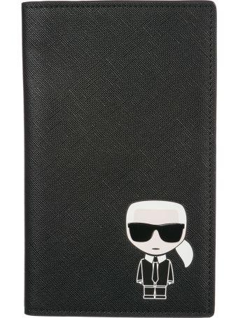 Karl Lagerfeld  Travel Document Passport Case Holder K/ikonik