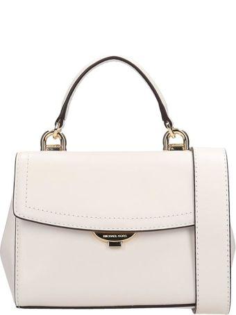 Michael Kors White Leather Satchel Bag