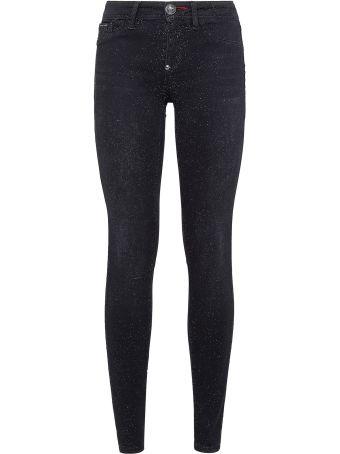Philipp Plein Black Cotton Jeans Jeggings