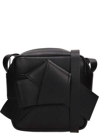 Acne Studios Black Leather Musubi Camera Bag