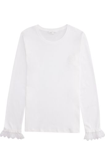 Chloé Long Sleeve Cotton T-shirt