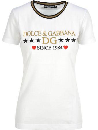 Dolce & Gabbana Dolce&gabbana Dolce & Gabbana Logo Print T-shirt