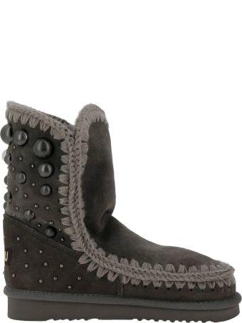 Mou Flat Booties Shoes Women Mou