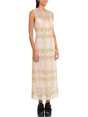 Simone Rocha Sleeveless Dress With Golden Embroidery