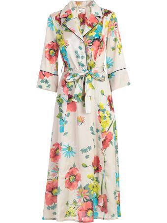 SEMICOUTURE Floral Wrap Dress