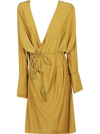 Lanvin Relaxed Fit Belted Dress