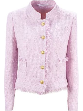 Tagliatore Pink Cotton Nikole Tweed Jacket