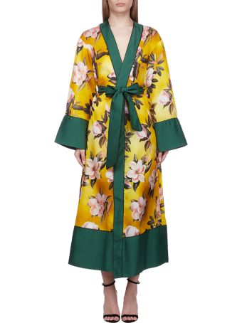 For Restless Sleepers Floral Print Robe Coat