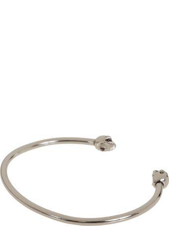 Alexander McQueen Thin Twin Sk.bracele