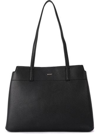 DKNY Bellah Black Leather Shoulder Bag