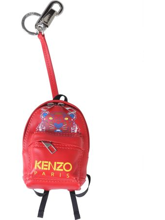Kenzo Tiger Print Backpack Key Holder