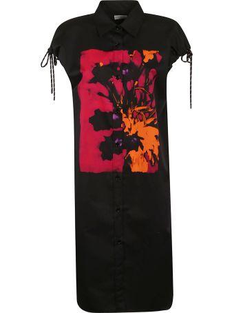 Dries Van Noten Printed Buttoned Dress
