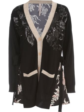 Antonio Marras Multicolour Cardigan W/paillettes